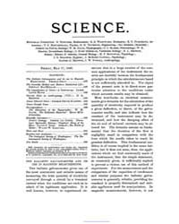 Science ; Volume 1 : No 20 : May 17 : 18... by