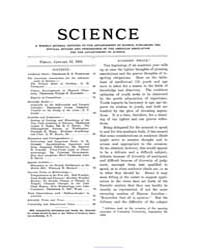Science ; Volume 21 : No 524 : Jan 13 : ... by