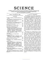Science ; Volume 28 : No 724 : Nov 13 : ... by