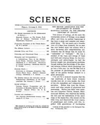 Science ; Volume 34 : No 875 : Oct 6 : 1... by