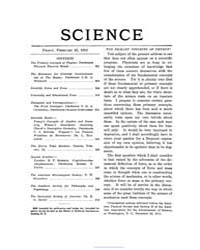 Science ; Volume 35 : No 895 : Feb 23 : ... by