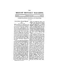 The Belfast Monthly Magazine : 1812 ; Ma... Volume Vol. 8 by L., Jennifer, Jozic