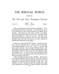 The Biblical World : 1894 ; May No. 5 Vo... Volume Vol. 3 by Harper, Rainey, William