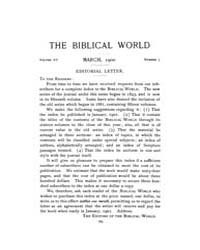 The Biblical World : 1900 ; Mar. No. 3 V... Volume Vol. 15 by Harper, Rainey, William
