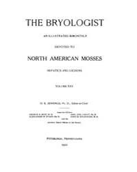 The Bryologist : 1922 ; Nov. No. 6 Vol. ... Volume Vol. 25 by Goffinet, Bernard