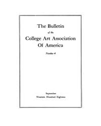 The Bulletin of the College Art Associat... Volume Vol. 1 by