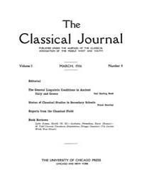 The Classical Journal : 1906 ; Mar. No. ... Volume Vol. 1 by Budelmann, Felix