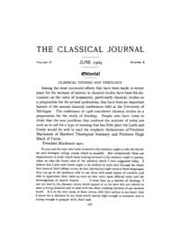 The Classical Journal : 1909 ; Jun. No. ... Volume Vol. 4 by Budelmann, Felix