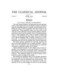 The Classical Journal : 1910 ; Jun. No. ... Volume Vol. 5 by Budelmann, Felix