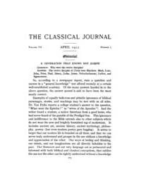 The Classical Journal : 1912 ; Apr. No. ... Volume Vol. 7 by Budelmann, Felix