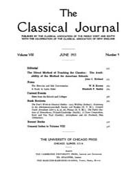 The Classical Journal : 1913 ; Jun. No. ... Volume Vol. 8 by Budelmann, Felix