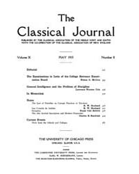 The Classical Journal : 1915 ; May. No. ... Volume Vol. 10 by Budelmann, Felix