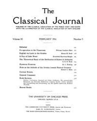 The Classical Journal : 1916 ; Feb. No. ... Volume Vol. 11 by Budelmann, Felix