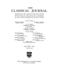 The Classical Journal : 1918 ; Oct. No. ... Volume Vol. 14 by Budelmann, Felix