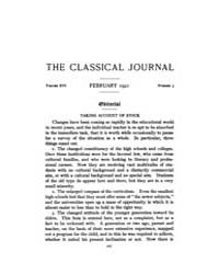 The Classical Journal : 1921 ; Fe. No. 5... Volume Vol. 16 by Budelmann, Felix