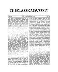 The Classical Weekly : 1910 ; Apr. 30 No... Volume Vol. 3 by Clarke, Keith