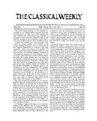 The Classical Weekly : 1911 ; May. 13 No... Volume Vol. 4 by Clarke, Keith