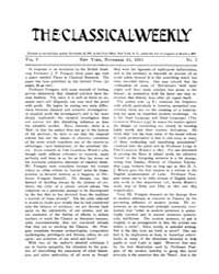 The Classical Weekly : 1911 ; Nov. 25 No... Volume Vol. 5 by Clarke, Keith