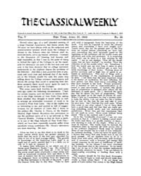 The Classical Weekly : 1912 ; Apr. 27 No... Volume Vol. 5 by Clarke, Keith
