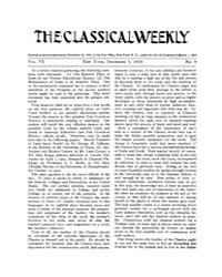 The Classical Weekly : 1912 ; Dec. 7 No.... Volume Vol. 6 by Clarke, Keith