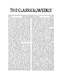 The Classical Weekly : 1912 ; Feb. 10 No... Volume Vol. 5 by Clarke, Keith
