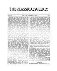 The Classical Weekly : 1913 ; Nov. 15 No... Volume Vol. 7 by Clarke, Keith