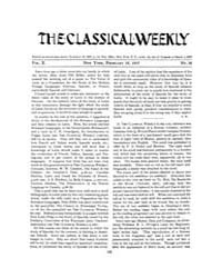 The Classical Weekly : 1917 ; Feb. 12 No... Volume Vol. 10 by Clarke, Keith