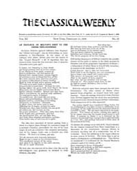 The Classical Weekly : 1918 ; Feb. 11 No... Volume Vol. 11 by Clarke, Keith
