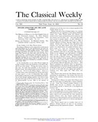 The Classical Weekly : 1919 ; Apr. 21 No... Volume Vol. 12 by Clarke, Keith