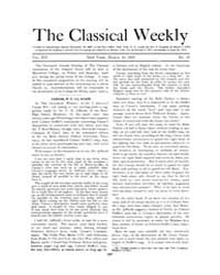 The Classical Weekly : 1919 ; Mar. 10 No... Volume Vol. 12 by Clarke, Keith