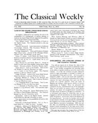 The Classical Weekly : 1919 ; May. 12 No... Volume Vol. 12 by Clarke, Keith