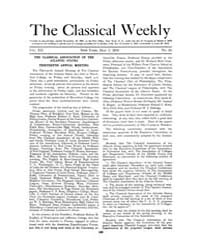 The Classical Weekly : 1919 ; May. 5 No.... Volume Vol. 12 by Clarke, Keith
