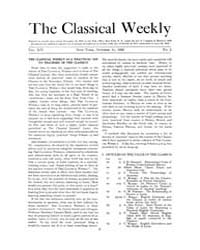 The Classical Weekly : 1920 ; Oct. 11 No... Volume Vol. 14 by Clarke, Keith