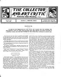 The Collector and Art Critic : 1905 ; Ju... Volume Vol. 3 by C., Preyer, David