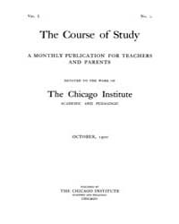 The Course of Study : 1900 ; Oct. No. 2 ... Volume Vol. 1 by