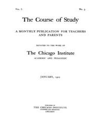 The Course of Study : 1901 ; Jan. No. 5 ... Volume Vol. 1 by