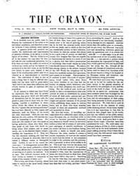 The Crayon : 1855 ; May 2 No. 18 Vol. 1 Volume Vol. 1 by