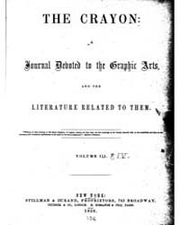 The Crayon : 1856 ; Jan. No. 1 Vol. 3 Volume Vol. 3 by