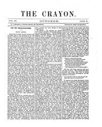 The Crayon : 1856 ; Oct. No. 10 Vol. 3 Volume Vol. 3 by