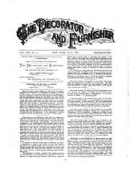The Decorator and Furnisher : 1886 ; Jul... Volume Vol. 8 by M.S., Kathryn, Dethier