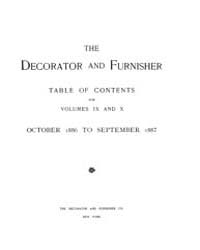 The Decorator and Furnisher : 1886 ; Oct... Volume Vol. 9 by M.S., Kathryn, Dethier