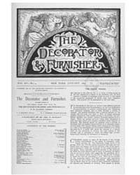 The Decorator and Furnisher : 1890 ; Jan... Volume Vol. 15 by M.S., Kathryn, Dethier