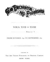 The Decorator and Furnisher : 1890 ; Oct... Volume Vol. 17 by M.S., Kathryn, Dethier