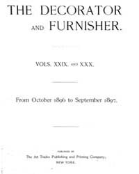 The Decorator and Furnisher : 1896 ; Oct... Volume Vol. 29 by M.S., Kathryn, Dethier
