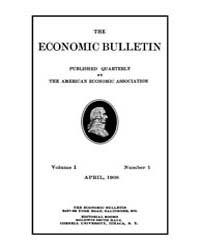 The Economic Bulletin : 1908 Apr. No. 1,... Volume Vol.1 by
