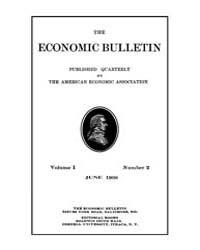 The Economic Bulletin : 1908 Jun. No. 2,... Volume Vol.1 by