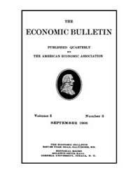 The Economic Bulletin : 1908 Sep. No. 3,... Volume Vol.1 by