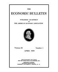 The Economic Bulletin : 1909 Apr. No. 1,... Volume Vol.2 by