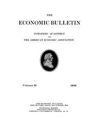 The Economic Bulletin : 1909 Dec. No. 4,... Volume Vol.2 by