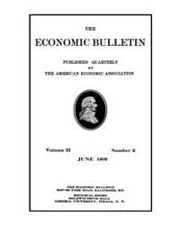 The Economic Bulletin : 1909 Jun. No. 2,... Volume Vol.2 by